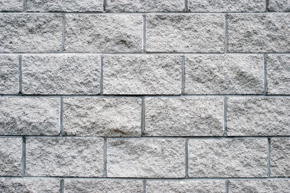 granitt hvit støttemur